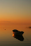 Boat at sunset Royalty Free Stock Photography