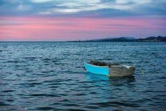 Boat sunset mexico baja california. Boat at sunset in la paz mexico baja california Royalty Free Stock Image