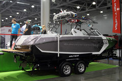 Boat  Super Air Nautique  in the exhibition Crocus Expo in Mosco Royalty Free Stock Images