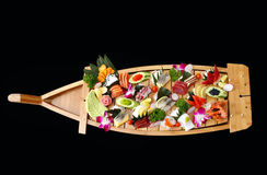 A boat of sushi Stock Images