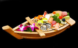 A boat of sushi Royalty Free Stock Photo