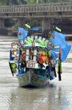 A Boat in Swat River,Sardaryab Pakistan! Stock Photo