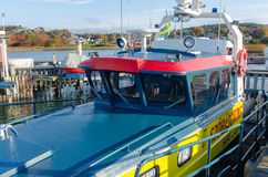The boat from sweden sea rescue. Is in the harbour ready to help Stock Image