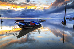 Boat at Tanjung aru beach, Labuan. Malaysia 21. Boat Tanjung Aru beach Labuan Malaysia. with beautiful sunrise Stock Photography