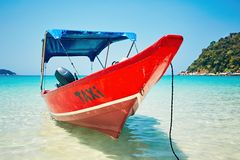 Boat taxi on the beach Stock Photography