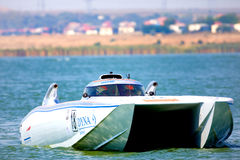 Boat of the team Dyna Stock Photography