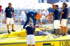 Boat of the team Foresti & Suardi Stock Photo