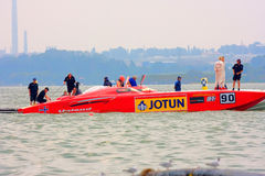 Boat of the team Jotun 90 at Class One Royalty Free Stock Image