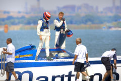 Boat of the team Maritimo Royalty Free Stock Photo