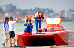 Boat of the team Welmax Stock Image