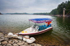 The boat on Teanding lake in China Stock Image