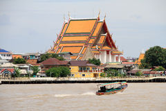 Boat and temple Stock Photography