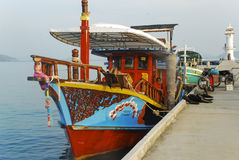 Boat in Thailand. A boat docked in Thailand Islands Stock Photos