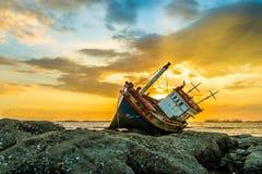 Boat thailand. Evening light fishingBoat Stock Images