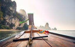 Boat in Thailand Islands stock images