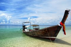 Boat on Thailand sea Royalty Free Stock Images