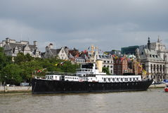 Boat On Thames Royalty Free Stock Photography