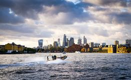 Boat in the Thames royalty free stock photography