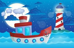 Boat theme image 1 vector illustration