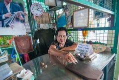 Boat ticket seller at Wat Arun Pier Stock Photos