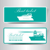 Boat ticket Royalty Free Stock Photo