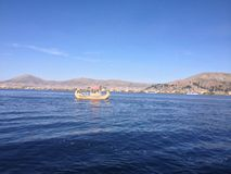 Boat in Titicaca Lake Stock Photos