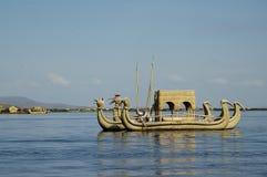 Boat at Titicaca lake Royalty Free Stock Photos