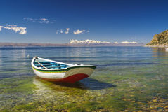 Boat on Titicaca Royalty Free Stock Images