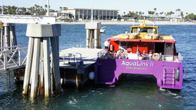 The BOAT. Is about to transfer passengers to the other side of the island in Long Beach, CA Stock Photography