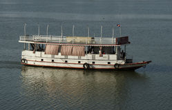 Boat on Tonle Sap River Royalty Free Stock Image