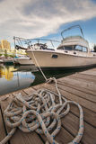Boat in toronto waterfront Royalty Free Stock Images