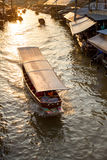 Boat tour Amphawa market in Thailand Stock Image