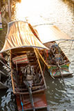 Boat tour Amphawa market in Thailand Stock Photos