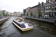 Boat tour in Amsterdam Royalty Free Stock Photo