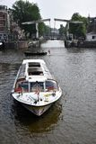 Boat tour in Amsterdam Royalty Free Stock Photos