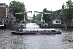 Boat tour in Amsterdam Royalty Free Stock Image