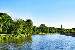 Boat tour in Berlin Stock Photography