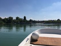 Boat tour on the Bodensee stock images