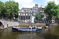 Boat tour in Amsterdam Stock Image