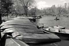 Boat tour in Central Park Stock Photo