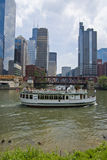 Boat Tour on Chicago River Stock Photos
