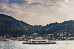 Boat tour in Como Royalty Free Stock Photo