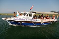 Boat tour in Dalyan Royalty Free Stock Photo