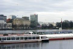 Boat tour Hamburg Stock Photos