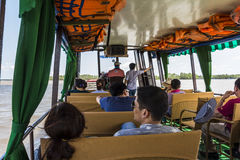 Boat tour on Mekong Royalty Free Stock Photo