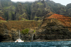 Boat Tour of Na Pali Stock Images