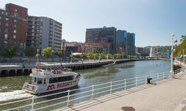 Boat tour on Nervion River in Bilbao Royalty Free Stock Photos