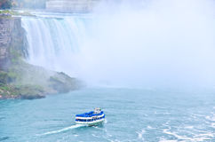 Boat tour at Niagara Falls Stock Images