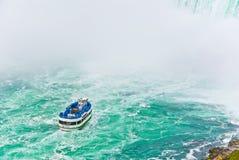 Boat tour at Niagara Falls Stock Photos