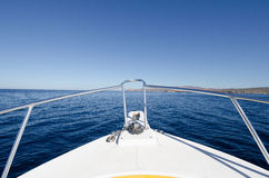 Boat tour on the sea of cortez,Mexico Stock Image